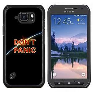 LECELL--Funda protectora / Cubierta / Piel For Samsung Galaxy S6Active Active G890A -- NO PÁNICO MENSAJE --