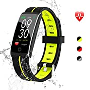 maxtop Sports Fitness Activity Tracker, Superior Slim Wearable Smart Armband with Durable Battery, Color Screen Display, Magnetic Suction Charging, 14 Functions Compatible with Android and iOS
