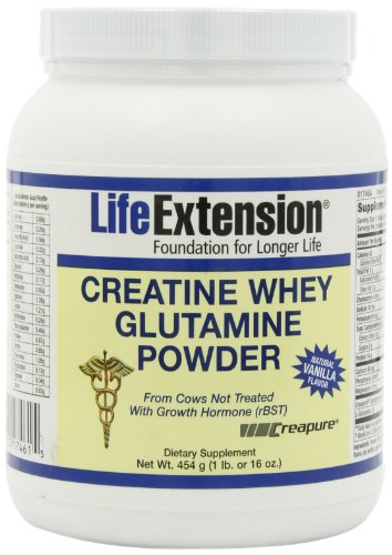 Life Extension créatine Whey Glutamine, vanille, 1 Pound