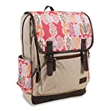 J World New York Women's Franklin Laptop Backpack Fashion, Pink Forest, One Size