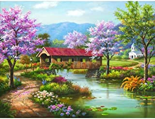 product image for SUNSOUT INC Covered Bridge in Spring 300 pc Jigsaw Puzzle