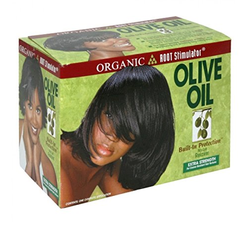 Organic Root Stimulator Olive Oil No Lye Relaxer Kit, Extra Strength
