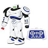 SGILE Remote Rechargeable R/C Action Robot Toy Robocop, Dancing Singing X-man Transformer Mode Self- programming, Creative Intelligent Puzzle Toy Gift Present for Kids Preschooler