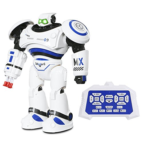 SGILE Large Remote Control RC Robot Toys for Christmas Gifts, Interactive Walking Singing Dancing Smart Robotics for Kids Boys Girls Programmable Gesture Sensing Robot Kit (Air Command Action Figure)