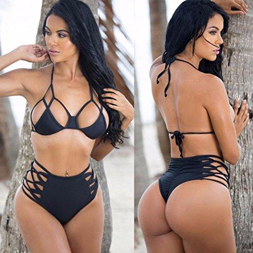 Dello Donne In Da Sexy Bikini Swimwear Elecenty Mette Reggiseno Bagno Il Nero Del Mostra Push Delle Costume cqUPBBfAwW