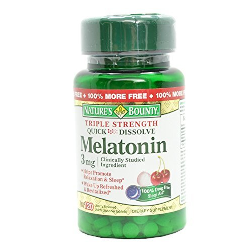 Nature's Bounty Melatonin 3 mg, quick dissolve, 120 Tablets (Pack of ()