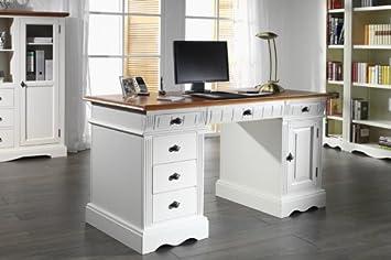 Schreibtisch Gotland Pinie massiv Holz Computertisch ...