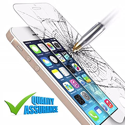 [HD Clear] Screen Protector [Japanese Material] Tempered Glass Anti Shock [9H] for iPhone SE / 5S / 5 / (Iphone 4s Privacy Screen 3m)