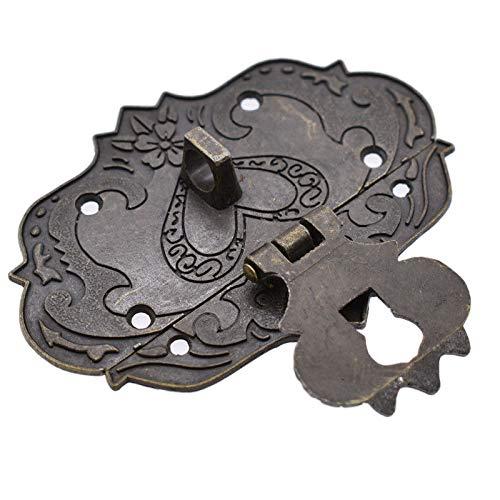 Verriegelung Haspe fü r Holz Schmuck Box Kabinett decorative Antik-Bronze-hasps mit Tocawe