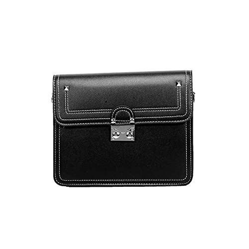 dda5b740a637 Women crossbody saddle bags shoulder purse with flap top Phone pocket-black  16x8x22cm(6x3x9inch