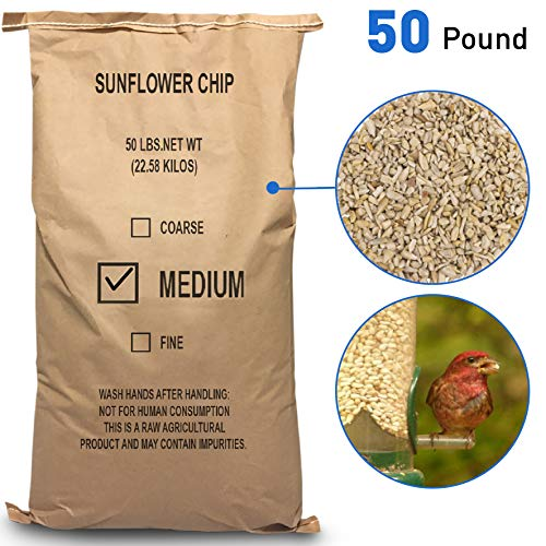 EasyGoProdcuts Sunflower Kernels - Medium Sun Flower Wild Bird Seed Chips 50 lb