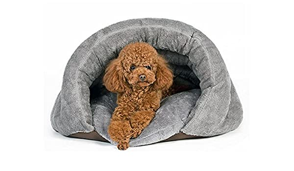 Cuddle Funda Pet cama, bolsa, Cubierta con capucha mascota cama, acogedor, para burrower gatos y cachorros Super peluche, térmico, agua, viento, ...
