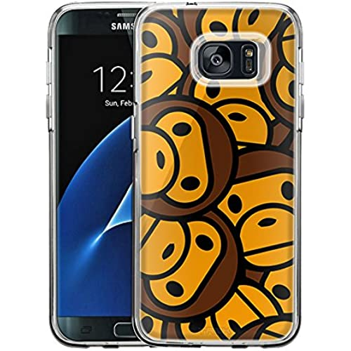 Samsung Galaxy S7 Edge Case, Snap On Cover by Trek Monkey Pattern One Piece Trans Case Sales