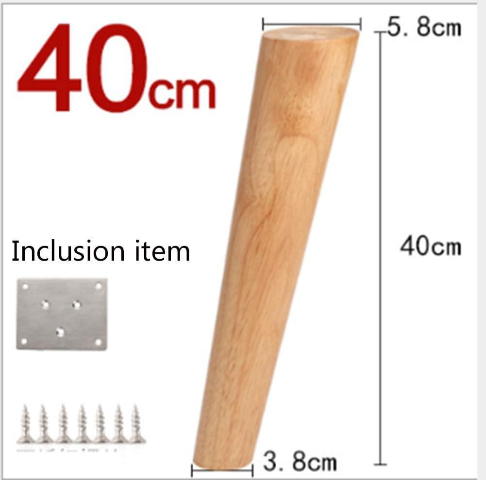 Gerade F/ü/ße 15cm 4 St/ück Holz Tischbeine,Holz Sofaf/ü/ße M/öbelf/ü/ße,Holz M/öbelf/ü/ße 8cm//15cm//20cm,mit Montageplatten /& Schrauben f/ür Sofa Bett Schrank Couch Stuhl