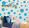 "Create-A-Mural Polka Dot Wall Stickers, (63) Wall Decor Stickers, Wall Dots, Vinyl Circle Room Dot Decals 3"" - 6.5"""