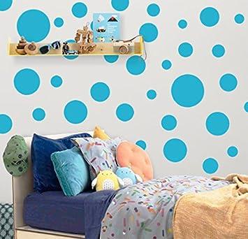 Polka Dot Wall Stickers, Wall Decor Stickers, Wall Dots, Vinyl Circle Room  Dot