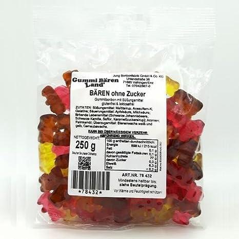 Maltit-Gummibärchen ohne Zuckerzusatz, 250g: Amazon.de: Lebensmittel ...