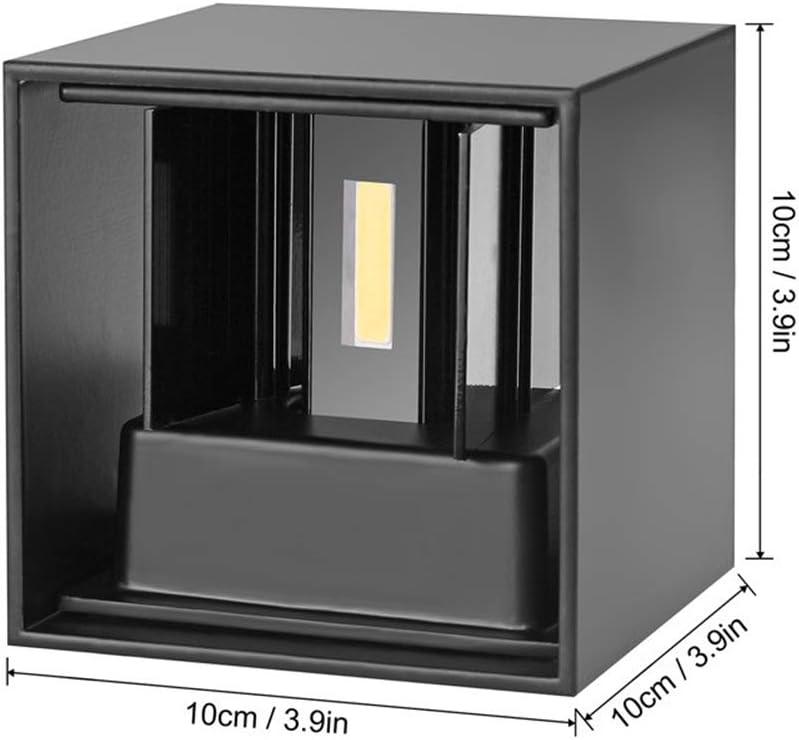 LED Wandleuchte im Freien wasserdichten IP65 Radar-Bewegungs-Sensor Porch Wandleuchte Startseite Sconce Innendekoration Beleuchtung Lampe 7W,Schwarz,Sensor:NoSensor