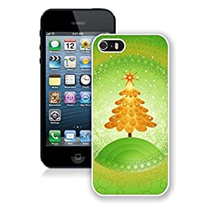 Niche market Phone Case Orange Christmas Tree Green Background Iphone 5s Case,Phone Case For Iphone 5,Iphone 5 White TPU Cover by lolosakes