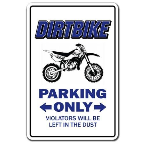 DIRTBIKE Parking Sign gag novelty gift funny bmx racing cycle bike racing