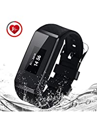 BigBen INCHOR Wristfit HR Bluetooth Touchscreen Smart Wristwatch with Pedometer Heart Rate Track Sleep monitor (Black)