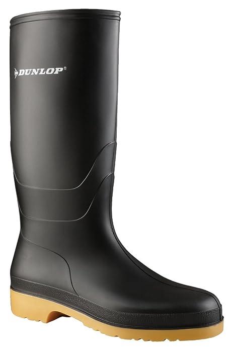 Dunlop Protective Dunlop Dull, Stivali di Gomma da Lavoro Unisex-Adulto,  Nero (