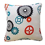 Waverly Kids 16477015X015RED Robotic 15-Inch by 15-Inch Decorative Accessory Pillow, Red