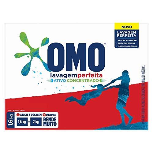 Lava-Roupas em Pó Omo Lavagem Perfeita Caixa 1,6Kg, OMO
