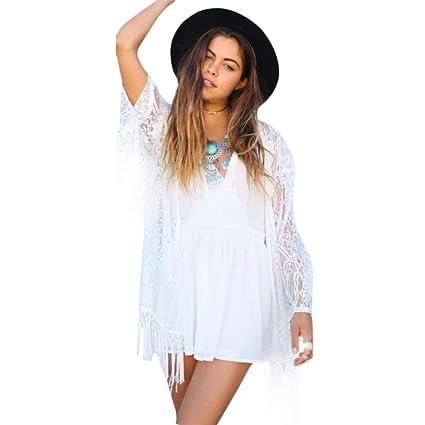 ❤️ Amlaiworld Cárdigan de Bikini Cárdigan Kimono Chaqueta Kimono de Mujeres Chales Wraps Outdoor Cardigan Tops Outerwear de Playa Cubrir Camisolas ...
