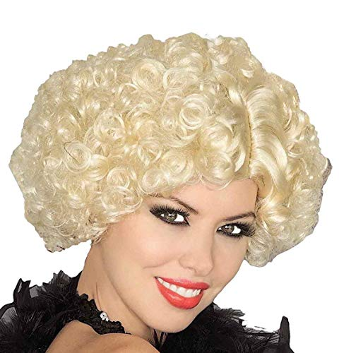 Forum Novelties Women's Short Curly Flapper Costume Wig, Blonde, One -