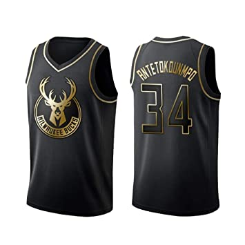 BALL-WHJ Maillot De Hombre - NBA Bucks 34# Antetokounmpo Bordado ...