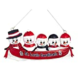 MLB Baseball DIY Personalized Christmas Ornament St.Louis Cardinals 2-3-4-5 Head Family Team Ornament Do it yourself (5 Head)