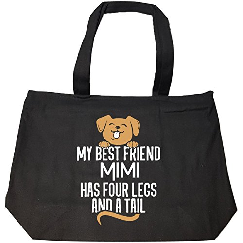 Dog Named Mimi Gift Four Legs And A Tail Custom - Tote Bag With Zip