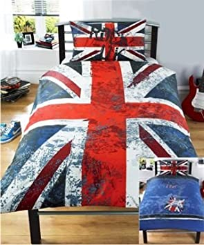 ROCK Londres London Union Jack Parure de lit housse de couette 140 ...