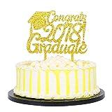 KISKISTONITE Gold Acrylic Congrats 2018 Graduate Cake Topper - High School Graduation, College Graduate Party Decorations Supplies Special Event