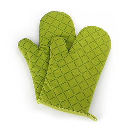Cotton Oven Mitts,Flame Retardant Quilted Silicone Coating Oven - Kitchen Oven Microwave