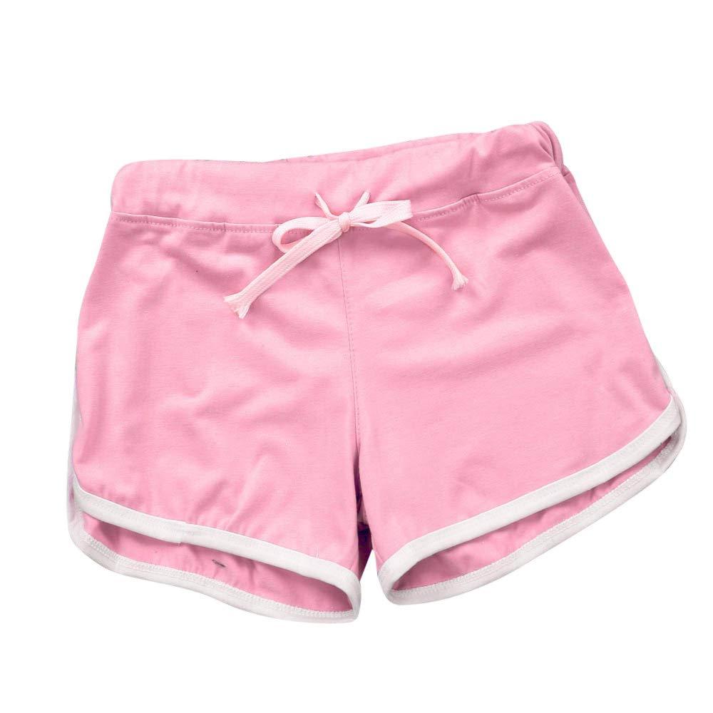 Womens Shorts, Libermall Women's Casual Workout Drawstring Elastic Short Sport Yoga Trousers Short Pants Pink