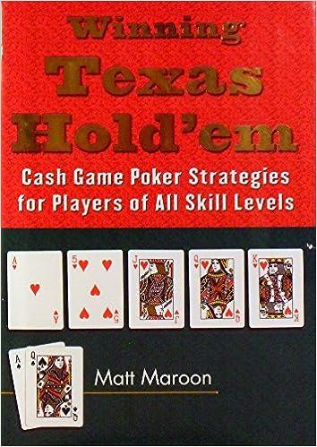 books texas holdem cash game