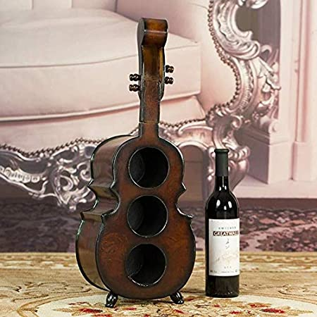 HJXSXHZ366 Estantería de Vino Estante del Vino Botellero 3 de Botella del Estante del sostenedor del Soporte del Piso o en el mostrador for Decorar la Cocina del hogar Bar Estante de Vino pequeño