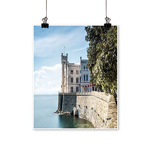 Canvas Wall Art miramare Castle Trieste Italy for Bathroom Home,20