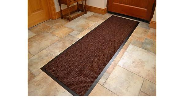 ... resistente Heavy Duty Negro PVC Borde Pila Top Goma Barrera Puerta de entrada utilidad de la cocina polvo suelo largo corto estrecho Hall Alfombras De ...