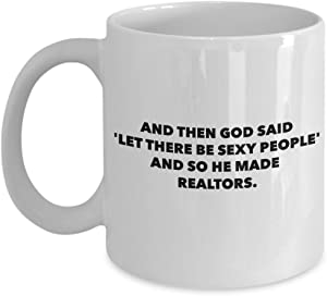 Funny Realtor Coffee Mug - Sexy Real Estate Agent Gifts - Unique Perfect Humorous Gag Gift Idea for Office - Novelty 11oz White Ceramic Tea Cup - Men Women Coworker - Sold Sell Houses