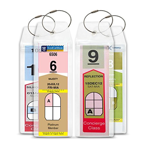 Cruise Luggage Tags Etag Holders Zip Seal and Steel Loops For Royal Caribbean Celebrity