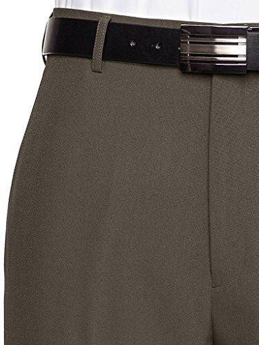 RGM Men's Flat Front Dress Pant Modern Fit - Perfect for Office, Business and Every Day! Olive 40W x 30L by RGM (Image #2)