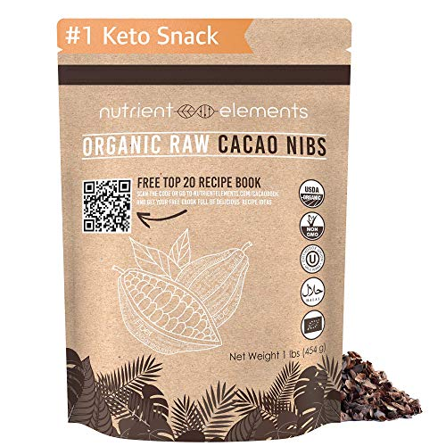 - 1lb Raw Organic Cacao Nibs - Certified, Unsweetened Nibs for Baking, Smoothies & More - Keto Super-food for Daily Use - Made from Highly Prized Criollo Beans in Peru - Non-Gmo, Gluten-Free & Vegan