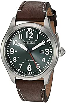 Citizen BM683809X EcoDrive Chandler Military Leather Men's Watch