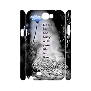 Be Free DIY 3D Cover Case for Samsung Galaxy Note 2 N7100,personalized phone case ygtg581469