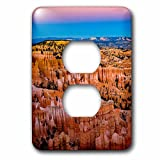 3dRose Danita Delimont - Utah - USA, Utah. Bryce Canyon National Park, twilight - Light Switch Covers - 2 plug outlet cover (lsp_279604_6)