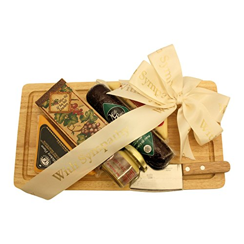 GreatArrivals Gift Baskets Our Condolences: Sympathy Cheese & Cracker Gift Pack, 2 Pound