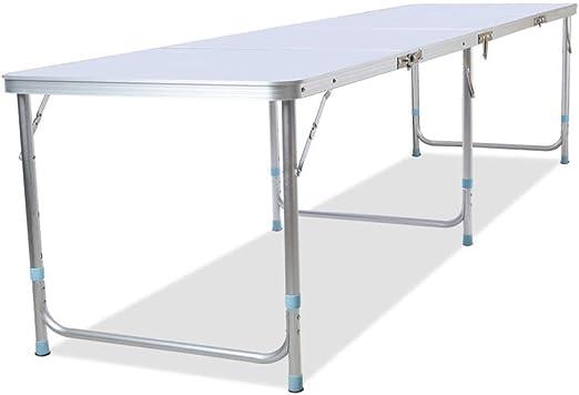 DX Mesa Plegable Alarga 2,4 Metros Mesa Exterior y sillas Mesa de ...